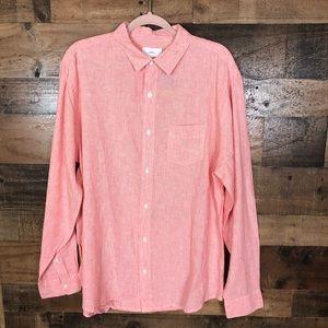 Onia long sleeve linen shirt